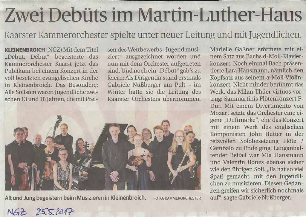 NGZ Konzertkritik 21.5.2017