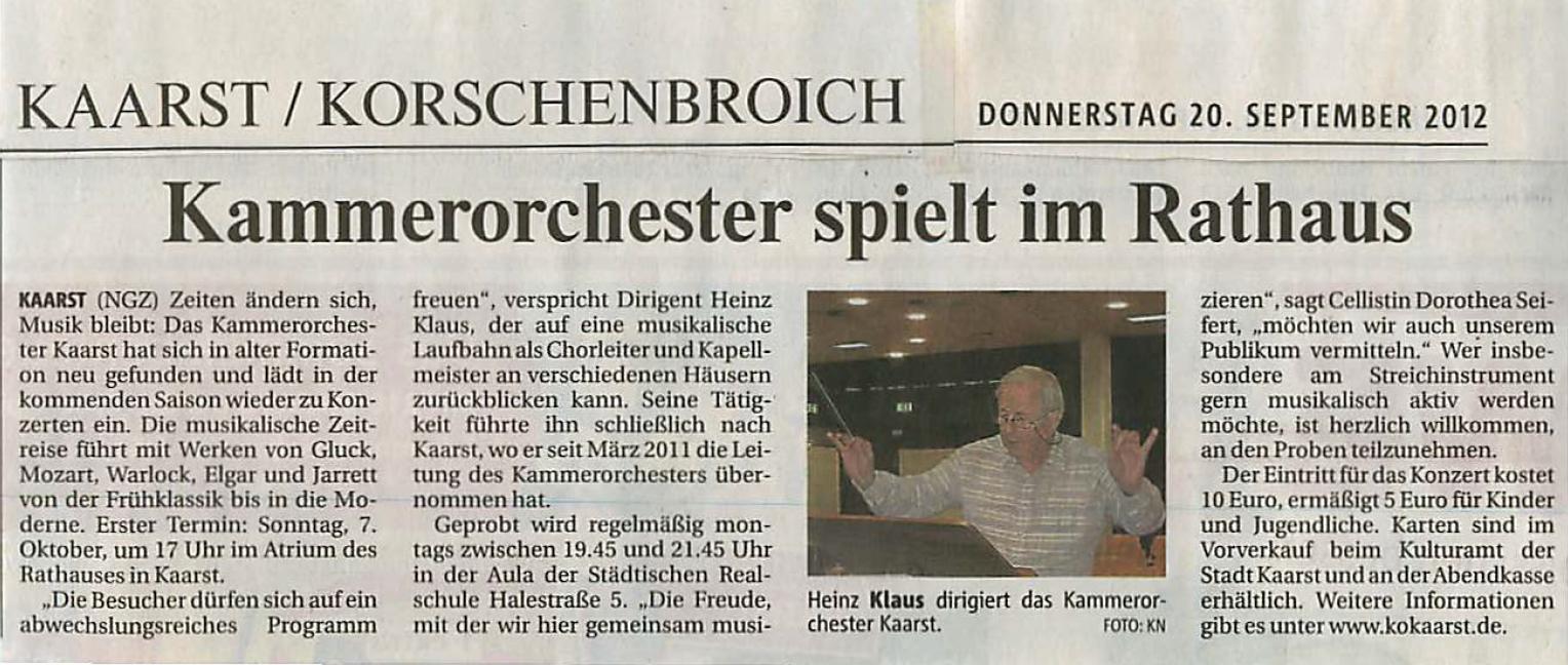 NGZ_Kammerorchester Kaarst Sept. 2012