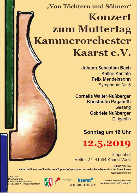 Kammerorchester Kaarst Konzert am 12.5.2019